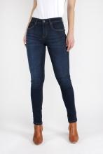 High Waist Skinny Jeans - Dark Blue - KUYICHI