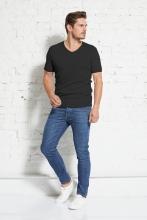 Basic Shirt V-neck rib-tee 2er Pack - wunder[werk]