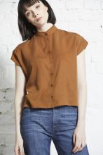 TENCEL square stand collar blouse - wunder[werk]
